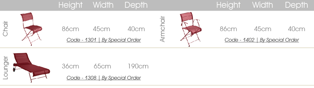 Fermob dune chairs specs