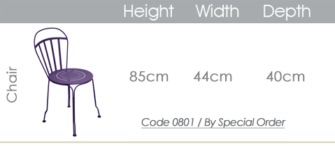 fermob louvre chair specs