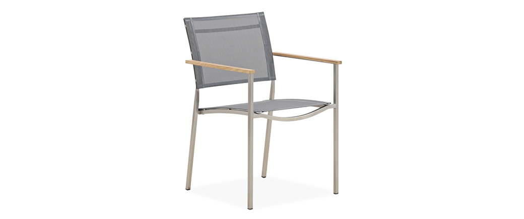 st stainlesssteel twin dining armchair