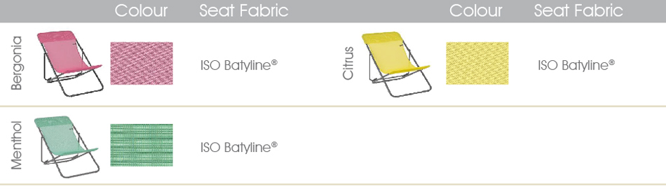 lafuma transat chair colours