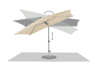 alu smart umbrella adjustments