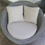 Basalt weave Stinson taupe antique cushions