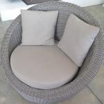 Kubu weave Stinson taupe cushions
