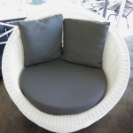 White weave Stinson dark grey cushions